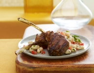 Tuscan Grilled Lamb Chops with Warm White Beans