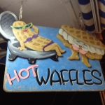 Dessert has to be waffles and ice cream