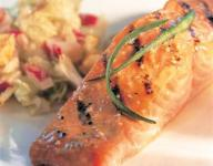 Sesame Grilled Salmon with Wasabi Slaw
