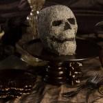 Skull Cake with Sanding Sugar