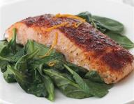 Smoked Paprika Roasted Salmon with Wilted Spinach Recipe