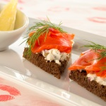 Smoke Salmon Toast Points