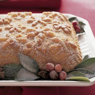 Snowflake Cake with Brandy-Butter Glaze