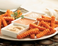 Sweet Potato Fries with Trio of Dips