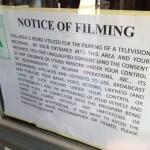 Sweetie Pie's notice of filming