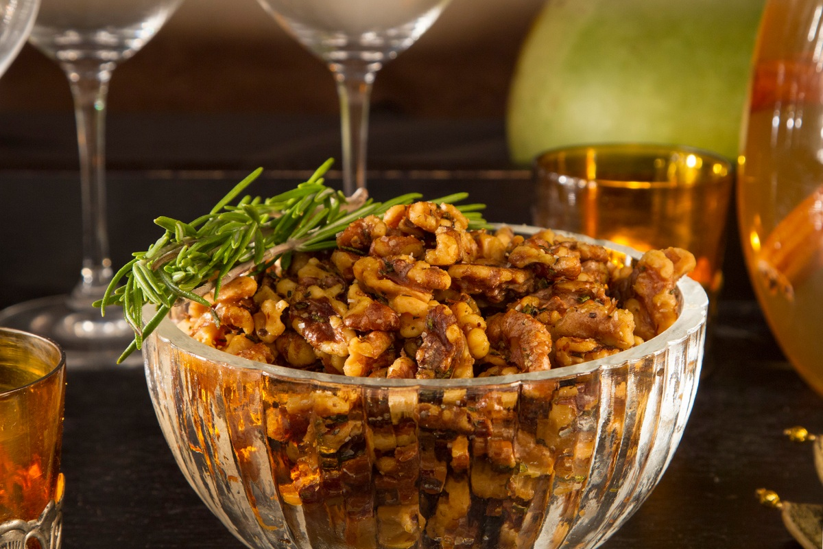 Sweet and Salty Rosemary Walnuts