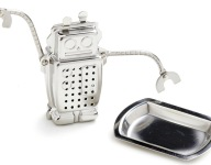 Darling Tea-Bot Hugo Steeps, Secretly Plots to Kill Us All