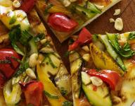 Thai Grilled Flatbread with Mango & Sweet Chili Sauce