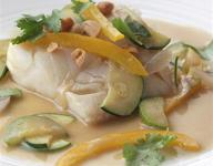 Thai-Style Fish in Coconut-Roasted Ginger Broth Recipe