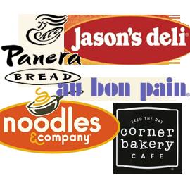 Logos of healthy restaurants