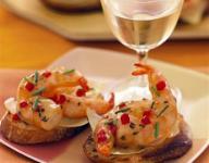 Vanilla Shrimp Crostini