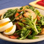 Wilted Greens with Bacon Salad