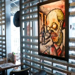 Zombie art mingles with local artists on display
