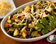 Zucchini and Black Beans With Chipotle Peppers