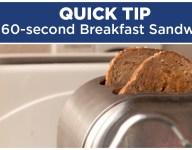 60-Second Cheesy Breakfast Sandwich
