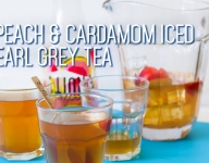 Peach and Cardamom Iced Earl Grey Tea