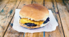 Classic hamburger made by smashing the patty
