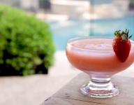 Frozen Strawberry Rosé Slushie