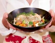Grilled Sea Bass with Tahini Sauce