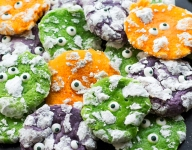 Chewy Halloween Monster Cookies