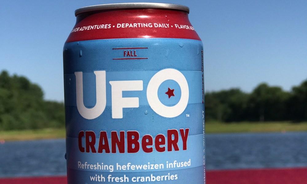 UFO Cranbeery Beer//Harpoon Brewery