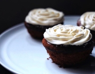 Maple Cupcakes with Bourbon Frosting
