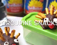 How to Make Porcupine Snack Crafts