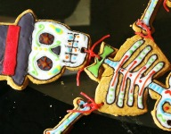 Giant Gingerbread Skeleton for Halloween