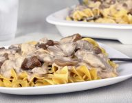 Leftover Turkey Stroganoff with Mushrooms and Cranberries