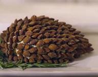 Smoked Almond Pine Cone Cheeseball Recipe