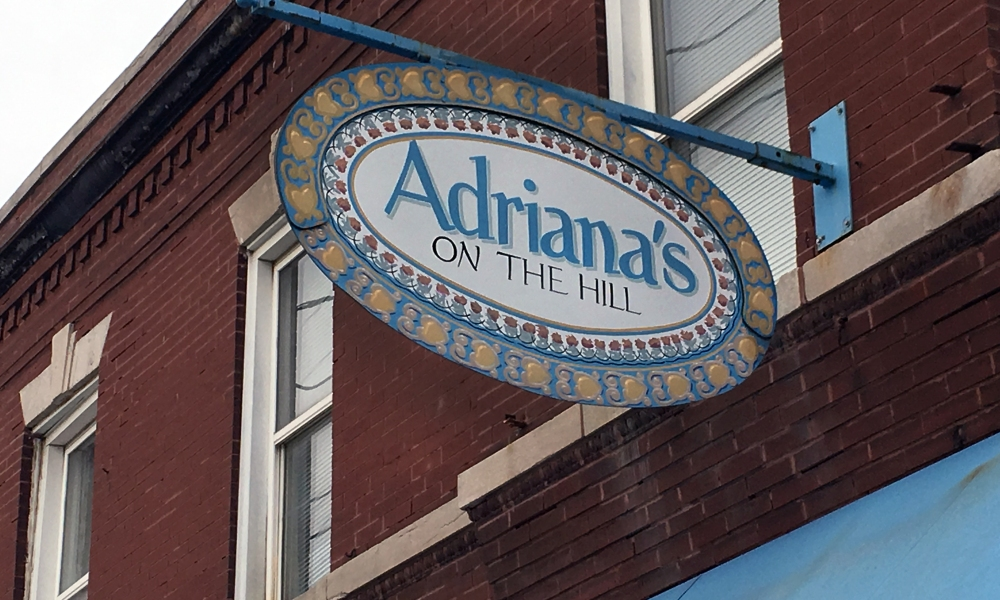 Lunch is a dying art—except at the holidays. Whether we are packing in as many activities as possible, or slowing things down enough (once the decorating and shopping are done) to take a break, it seems the lunch crowd picks up just a bit. It was evident at Adriana's on the Hill. We've been there when they were busy (which is almost always), but it seems holiday appetites were in full swing.