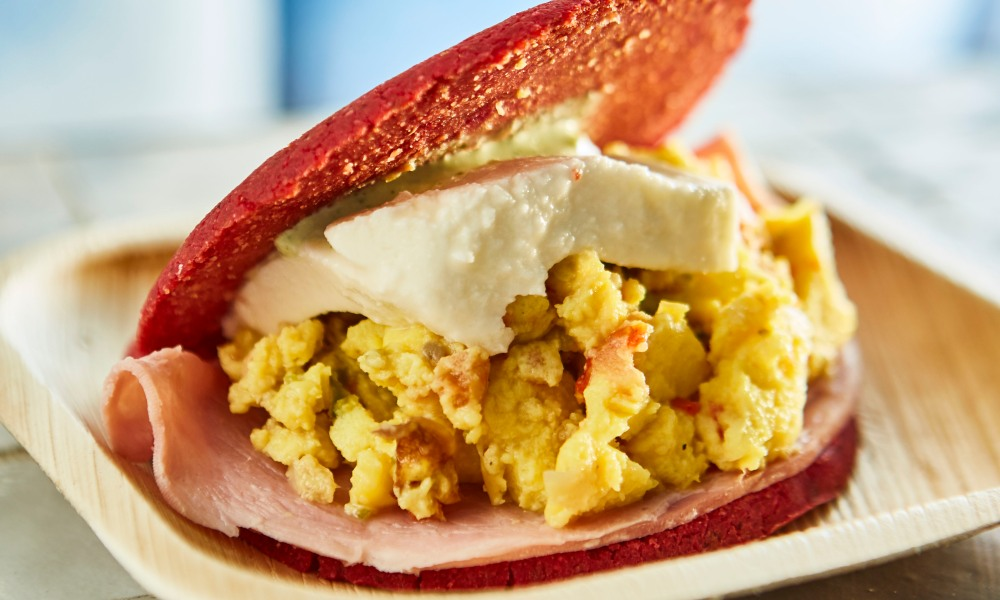 Now you can make authentic homestyle breakfast areppas with a contemporary twist, thanks to the restaurant's executive chef, and Venezuelan native, Gabriela Machado. She's handled all the details, from shopping list to cooking instructions. This recipe for Morningstyle Areppas from Chef Machado features corn flour, ham and eggs, beets, tomato and scallions.
