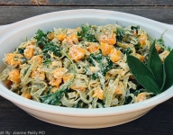 Butternut Squash, Kale and Fettuccini with Creamy Ricotta Sage Sauce