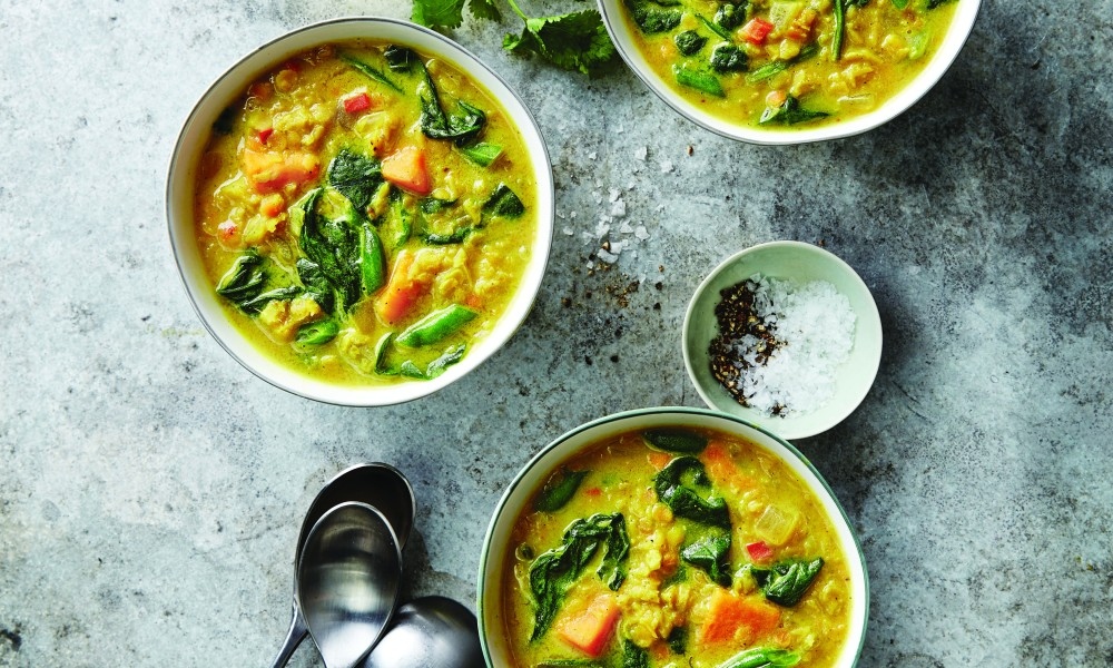 In her cookbook, Stock the Crock, Phyllis Good says this recipe for Indian Lentil Soup is a mild but irresistible introduction to Indian food—plus, it's a new way to bring more vegetables to your table. Indian Lentil Soup is best served with naan, an Indian flatbread. Tip: Make the soup smoother by using an immersion blender to puree the soup at the end of the cooking time.