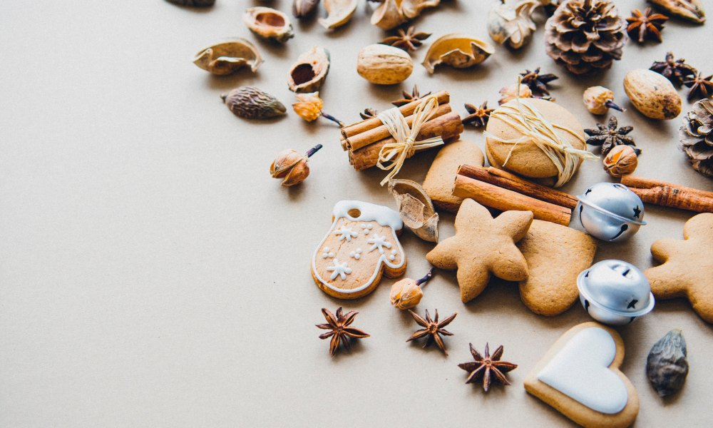 The flavors of winter are often those found in traditional foods and cookies, such as this array of christmas cookies on a countertop. According to The Food Channel, ethnic and cultural influences are joining some of our traditional favorites adding a world of flavor to winter.