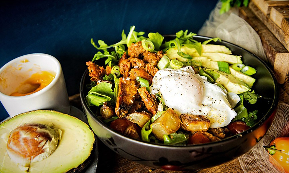 Fuel up right in the morning with this spicy loaded Chorizo Hash Breakfast Bowl! With fresh avocado, crispy hash browns and chipotle cream is the perfect start to fuel the whole day.