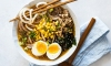 Making miso ramen soup with spiraled potatoes is a healthy and paleo-friendly way to enjoy a hearty bowl of noodles. It is super easy to make, colorful, and delicious!