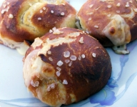 Beer and Barbecue Stuffed Pretzels