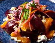 Marinated Beets with Blood Orange and Avocado