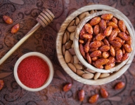 Caramelized Nuts with Honey and Chile Piquin