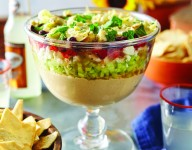 Mediterranean Layer Dip with Pita