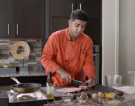 Cooking with Kids: Noah's Ham and Cheese Mushroom Omelet