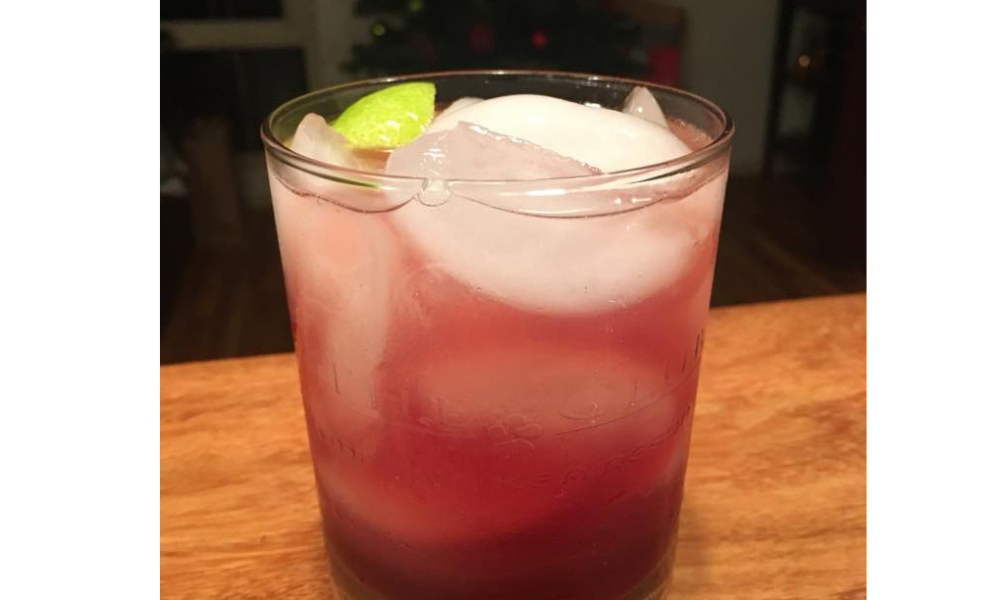 """We share cocktail recipes from bloggers, mixologists, food editors and brands all the time. Today, this recipe has a very personal connection. The """"Tish Special"""" was the favorite drink of a dear friend who passed recently. She was one of my biggest fans and a lover of The Food Channel. This was Tish's favorite beverage—one she enjoyed on the golf course and in the evenings watching the sunset in her beloved Hawaii. It might actually be known as a """"Sea Breeze,"""" but for today, it will be """"Tish's Special."""" Photo credit: Summer Brooks."""
