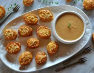 Basketball Pretzel Bites with Champion Beer Cheese Dip