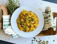 Roasted Butternut Squash Pasta with Thyme