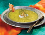 Victoria and Abdul: Chilled Mango Caramelized Onion Soup with Shrimp