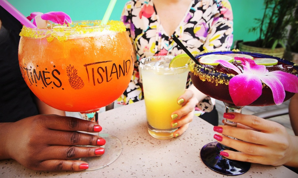 When we saw the Bahama Breeze Island Grille, in Orlando was celebrating National Margarita Day with, that's right, nail polish, we were intrigued. This year, along with its discounted Classic Margaritas, the Bahama Breeze Island Grille is releasing a line of nail polish colors inspired by 3 of the restaurant's margarita selections.