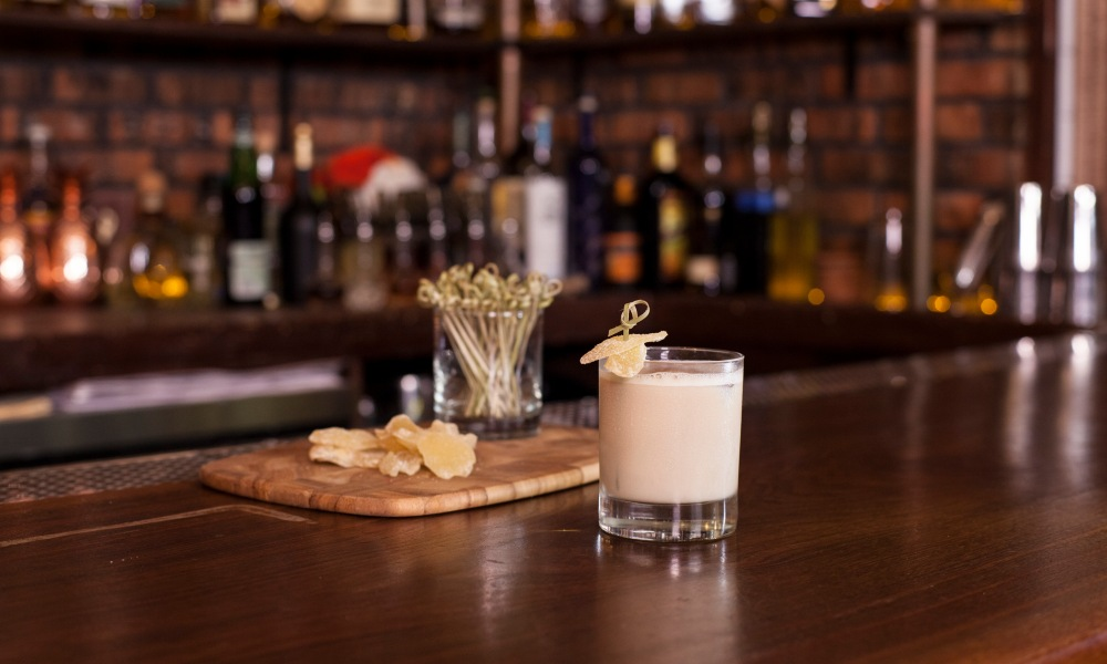 This Irish cocktail is made with Kerrygold Irish Cream Liqueur,a cream made from the milk of grass-fed cows. Paired with a ginger liqueur and Templeton Rye, the Lucky Clover is creamy and tasty!