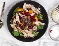 Roasted Butternut Squash with Chicken Fall Salad