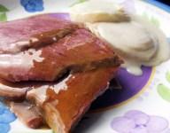 Spiced Apple Glazed Corned Beef